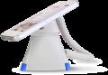 Optiguard V-line stand alone beveiligingsdisplays steuntjes met alarm en oplaadfunctie met smartphone_highlight blauw