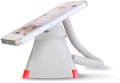 Optiguard V-line stand alone beveiligingsdisplays steuntjes met alarm en oplaadfunctie met smartphone_highlight rood