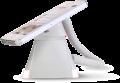 Optiguard V-line stand alone beveiligingsdisplays steuntjes met alarm en oplaadfunctie met smartphone_highlight wit