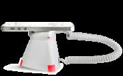 Optiguard V-line stand alone beveiligingsdisplays steuntjes met alarm en oplaadfunctie met smartphone horizontale positie
