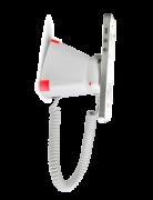 Optiguard V-line stand alone beveiligingsdisplays steuntjes met alarm en oplaadfunctie met smartphone vertikale positie