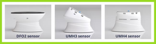 Verschillende types sensorkoppen t.b.v. OPTIGUARD alarm productbeveiliging by Elbes